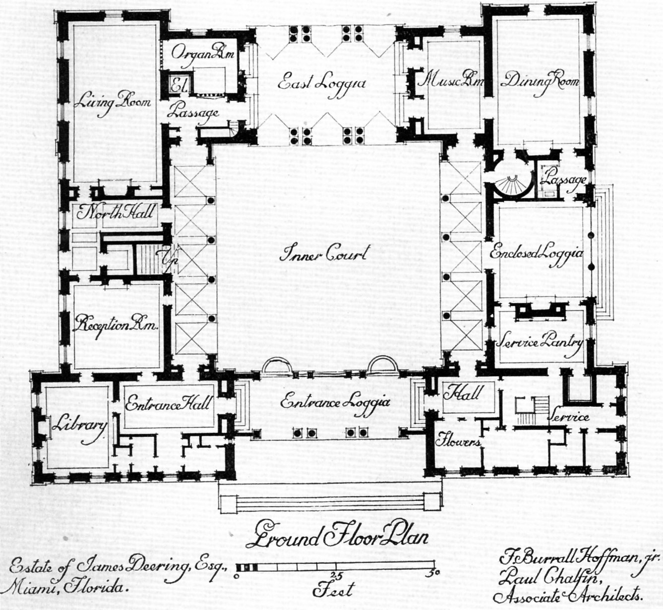 Central courtyard house plans find house plans Buy architectural plans