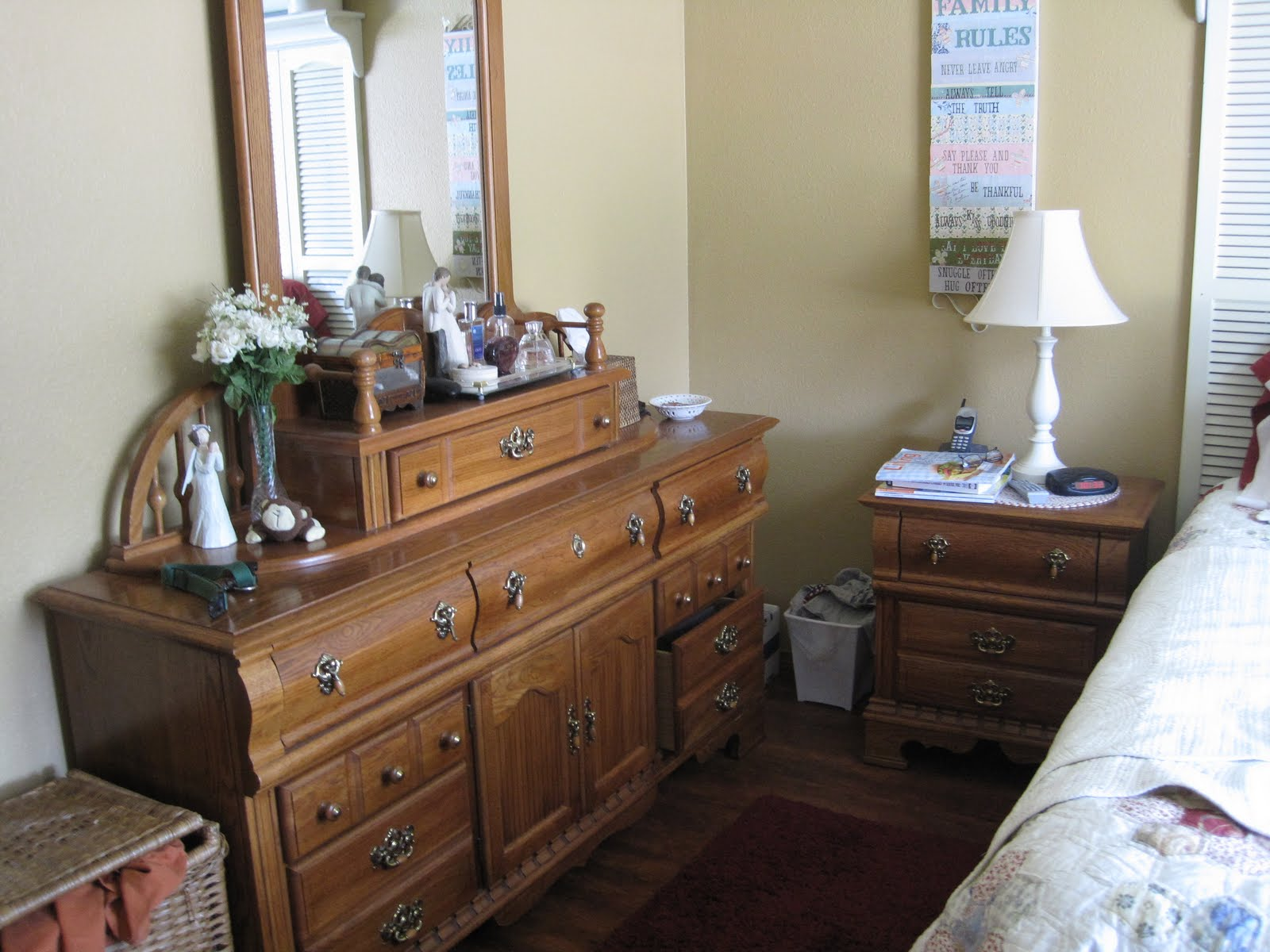 Cherished Treasures Before And After Our Cottagy Bedroom Furniture