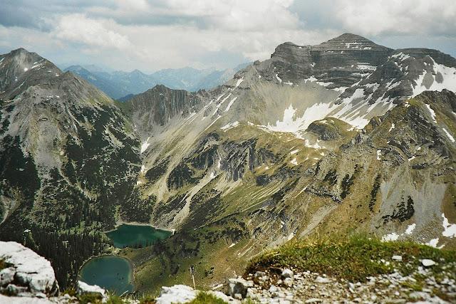 Erlebnis bei m Bergwandern auf die Schöttelkarspitze