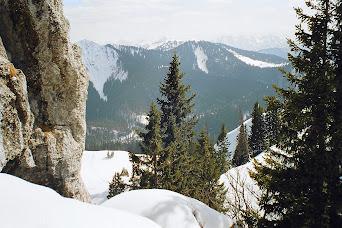 9 Bad Wiessee - Abstieg Blick unten Hirschtalsattel und Ochsenkamp