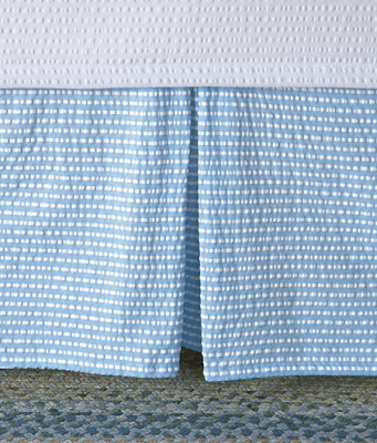 blue and white seersucker bedskirt