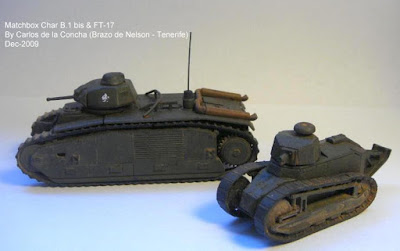Matchbox Char B.1 bis & FT-17