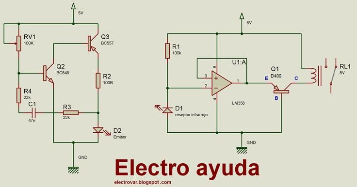 Circuito Emisor Receptor : Ayuda web