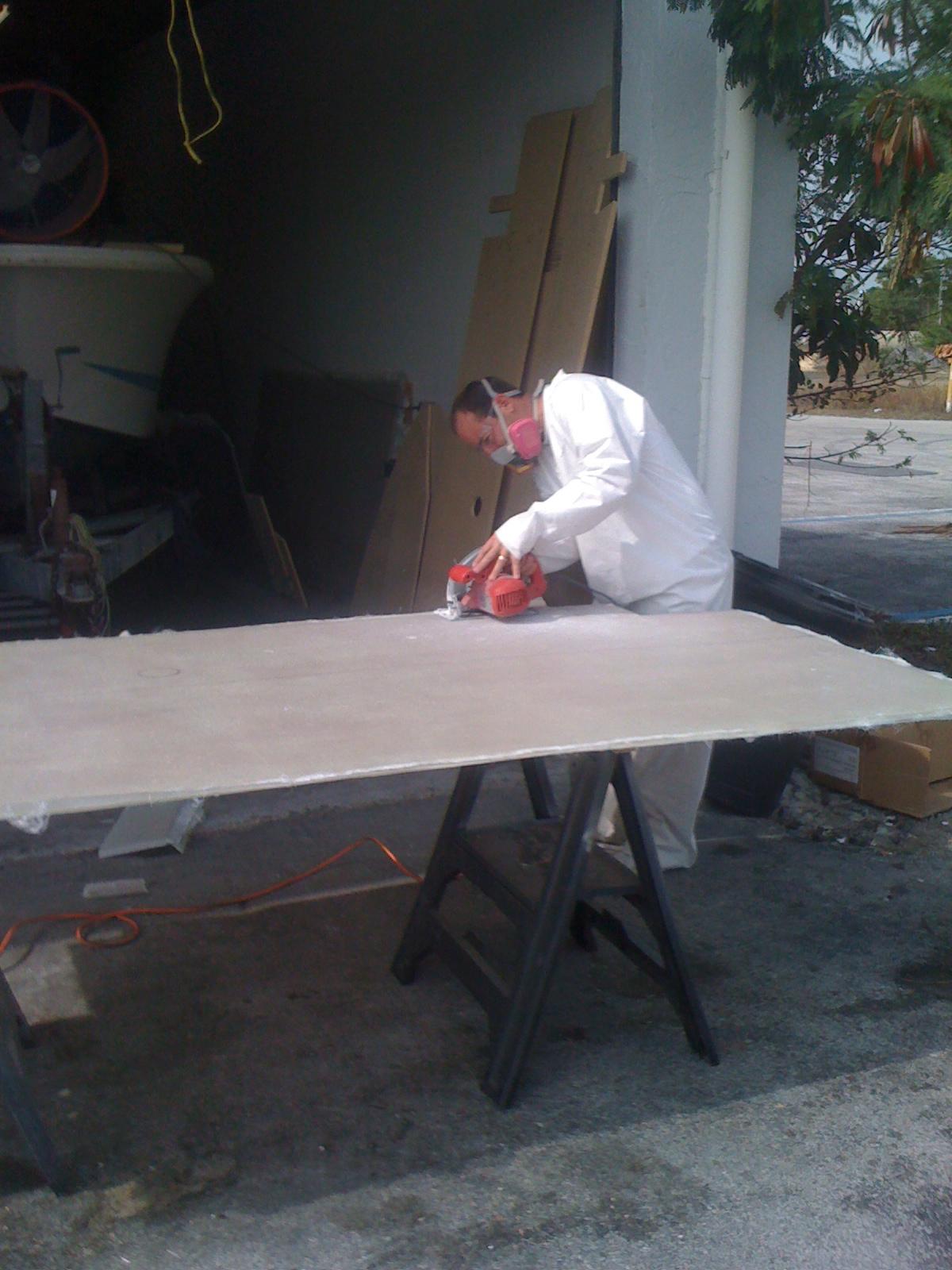 1981 23 Fish Nautique Restoration Nida Core Deck Is Done
