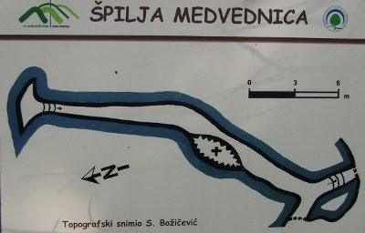 Pećina Medvednica - skica
