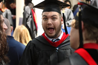 Candler MDiv '09 grad James Clark is happy.