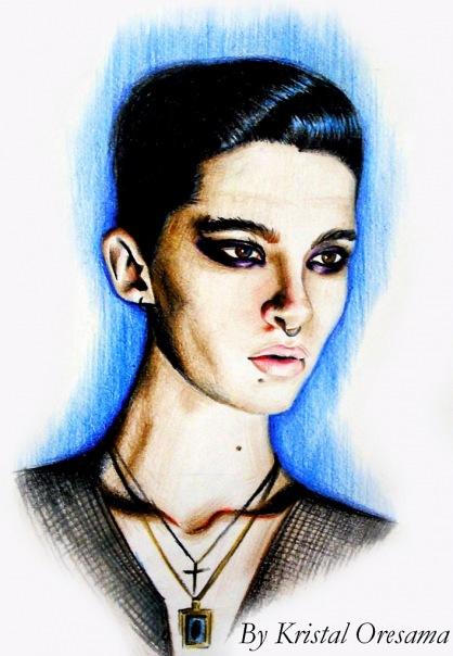 Dibujo de Bill del photoshoot L'Uomo Vogue E910b4c40e4d