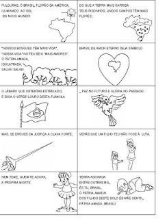 hino+nacional+2 ATIVIDADES SEMANA DA PÁTRIA para crianças