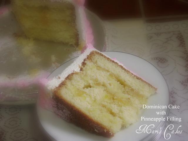 Dominican Cake Pineapple Filling Recipe