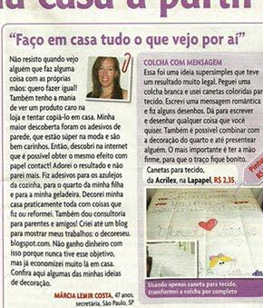 Reportagem na Revista Sou+Eu - Edição 204 - Reporter Helena Dias