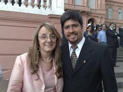 MINISTRA DE DESARROLLO SOCIAL DE LA NACION Y EL INTENDENTE DE MANTILLA