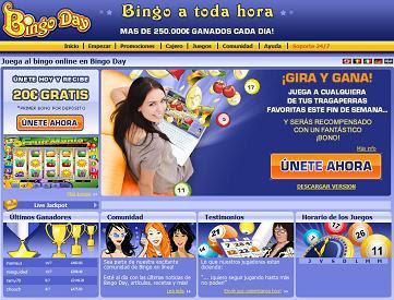 Bingo Day en jugar y apostar en casinos