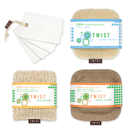 Twist Sponges are eco-friendly and chic