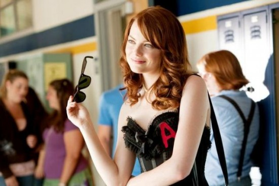 "This is a scene from ""Easy A"". Emma Stone is the girl on the right,"