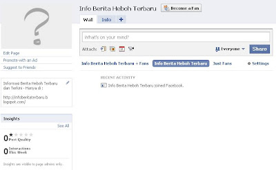 tips membuat fan pages di facebook
