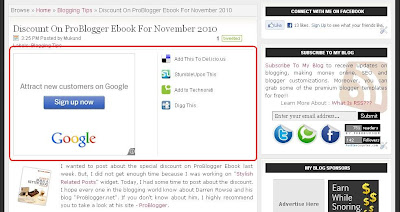 Adsense With Social Bookmarks