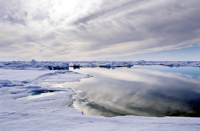 El ártico invadido por masa de agua cálida