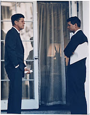 JFK & RFK outside Oval Office March 1963