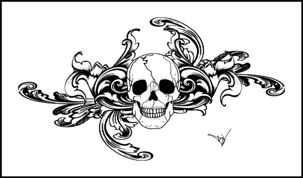 Labels: Gothic skull tattoo designs