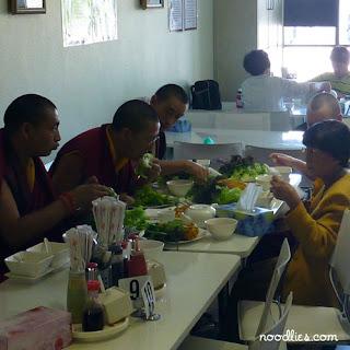 monks vegetarian