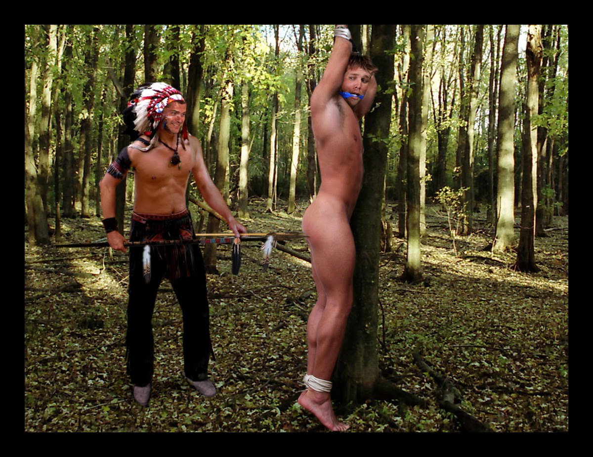 Male outdoor Bondage