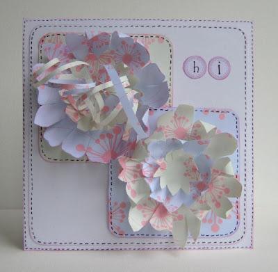 Интересно и очень мило эти цветы будут выглядеть на открытках.  Такие открытки могут сделать дети к 8 марта своим...