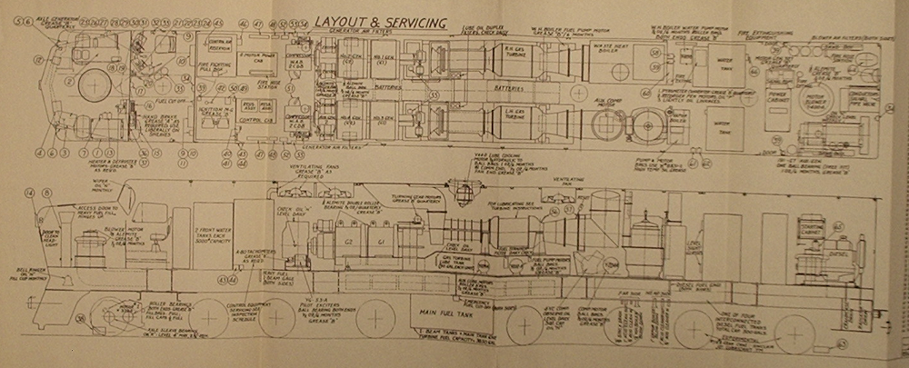 railroad locomotives 2010 starting at the left side of the drawing we note that there are two large air brake equipment racks in the nose of the locomotive flanking the vertically