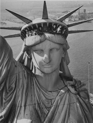 the statue of liberty crown. the statue of liberty crown.