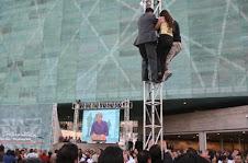 """""""¡En Chile se violan los derechos humanos!""""- Chile inaugura Museo de la Memoria -11-01-10"""
