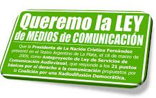 Anteproyecto de Ley de Servicios de Comunicación Audiovisual, que responde a los 21 puntos básicos