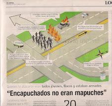 """""""Encapuchados no eran mapuches"""" Carabineros habría impedido que la PDI siguiera autores-25-10-09"""