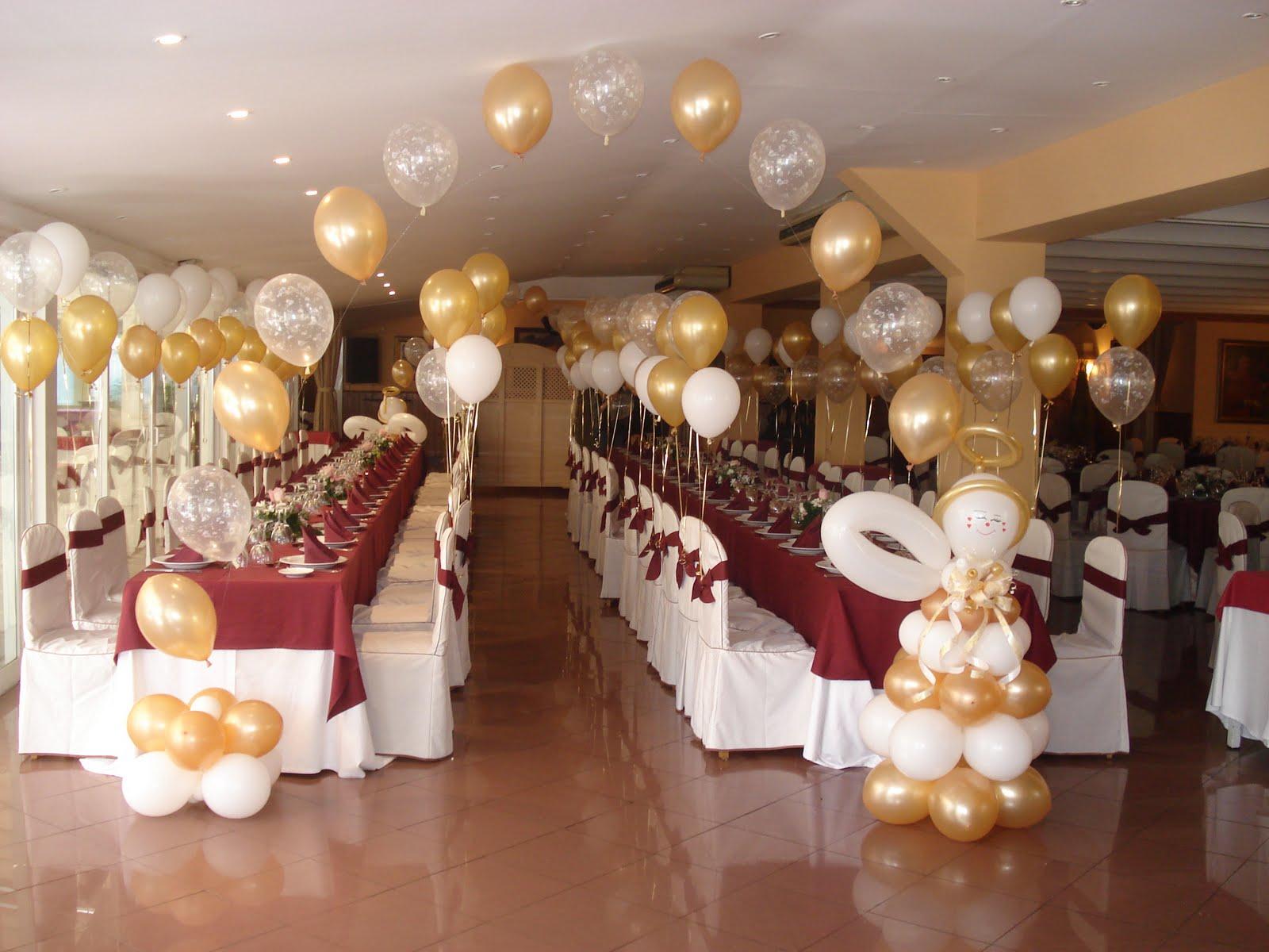 Decoracion con globos y articulos de fiesta decoracion for Decoraciones internas