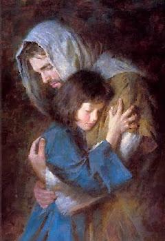 Quero ser sempre esta menininha nos braços do Senhor!