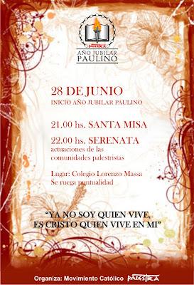 A  O Jubilar Con Misa Y Expresiones Art  Sticas En Honor A San Pablo