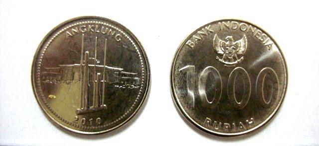 ini ne, pecahan uang 1000 rupiah yang baru...
