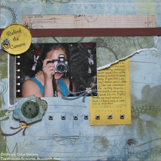 12x12 modern scrapbook layout for a sketch challenge using Periphery collection by Basic Grey