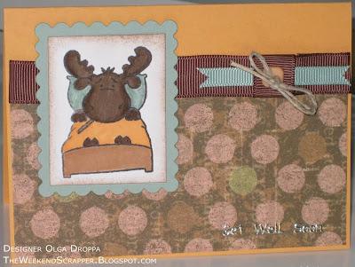 Handmade stamped Sick Riley card