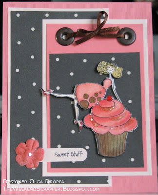 Handmade card with Cupcakeabella stamp