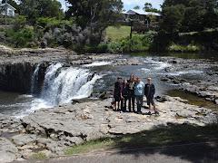 Kids at Haruru Falls