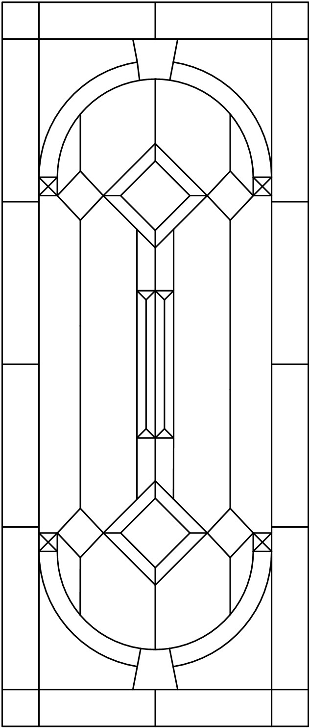 Stained Glass Cabinet Inserts Pattern Ideas
