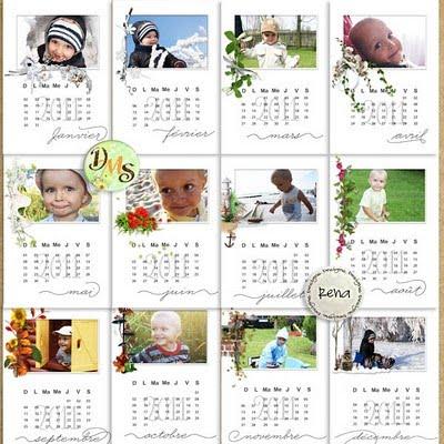 Kalendář 2011 calendar 2011 rena designs