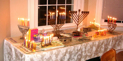 chanukah candles for seventh night