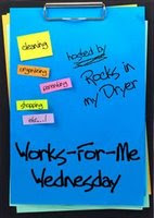 Works for Me Wednesday header at rocksinmydryer.typepad.com