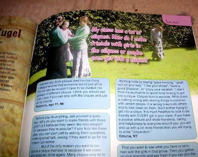 Yaldah Magazine article about cliques
