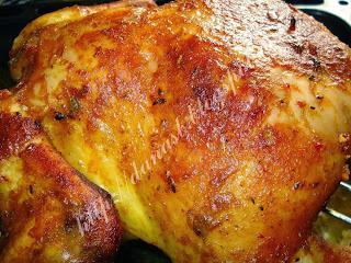 Articole culinare : Pui la cuptor ,umplut cu ficatei de pui