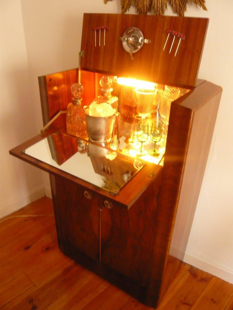 Mueblebar mueble bar cocktail art dec a os 50 for Mueble barra bar