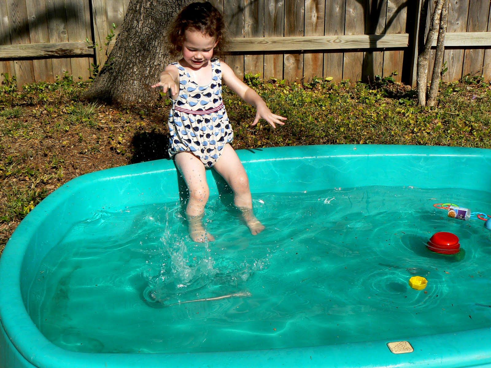 Having Fun At Home Day 2 In The Kiddie Pool Sink Or Float