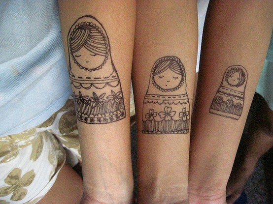 marker tattoos don't normally count BUT i LOVE russian nesting dolls :))