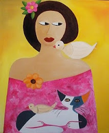 Telas pintadas por Lisa B.