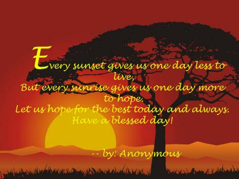 every rhose thought for the day morning encouragement